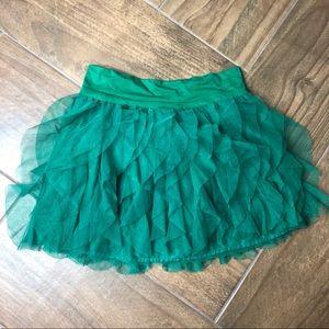 GAP kids green tulle skirt size 8